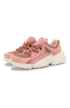 Женские комбинированные кроссовки skylar SALVATORE FERRAGAMO розового цвета, арт. Z-07263001C | Фото 1