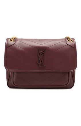 Женская сумка niki medium SAINT LAURENT бордового цвета, арт. 498894/1EL07 | Фото 1