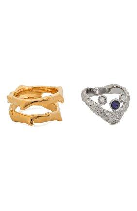 Женское набор из двух колец daria CHLOÉ синего цвета, арт. CHC20UFR62CH5 | Фото 1