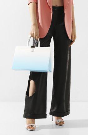 Женская сумка box medium OFF-WHITE голубого цвета, арт. 0WNA058R20G990683100 | Фото 2