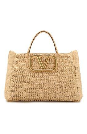 Женская сумка-шопер valentino garavani in it VALENTINO бежевого цвета, арт. TW0B0G56/LAX | Фото 1