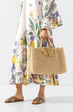 Женская сумка-шопер valentino garavani in it VALENTINO бежевого цвета, арт. TW0B0G56/LAX | Фото 2