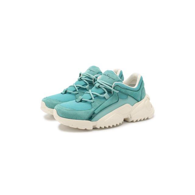 Комбинированные кроссовки Skylar Salvatore Ferragamo — Комбинированные кроссовки Skylar