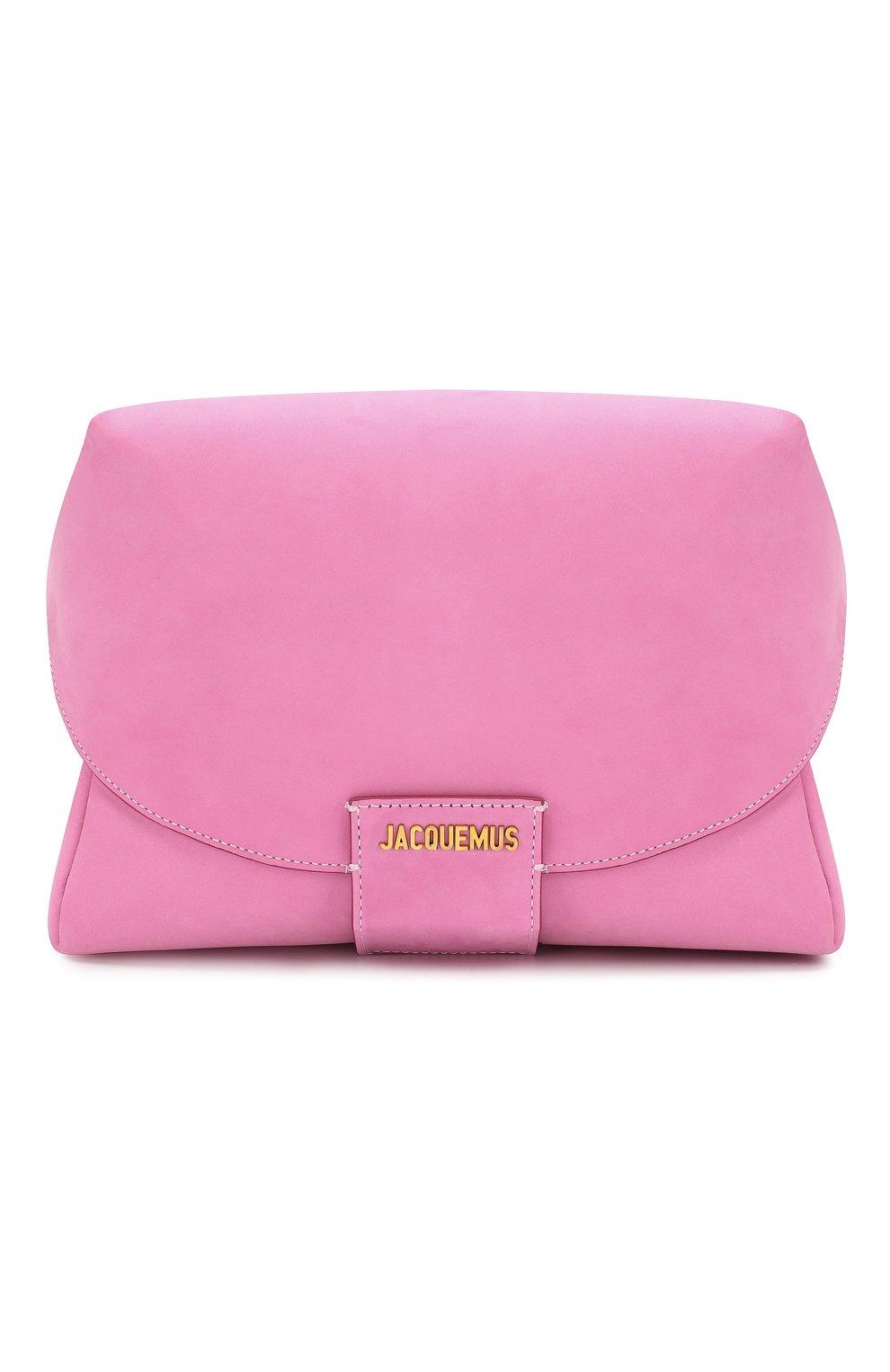 Женская поясная сумка le sac manosque JACQUEMUS розового цвета, арт. 201BA18/61400   Фото 1