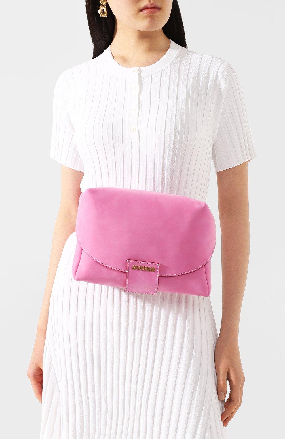 Женская поясная сумка le sac manosque JACQUEMUS розового цвета, арт. 201BA18/61400   Фото 2