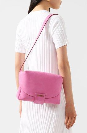 Женская поясная сумка le sac manosque JACQUEMUS розового цвета, арт. 201BA18/61400   Фото 5