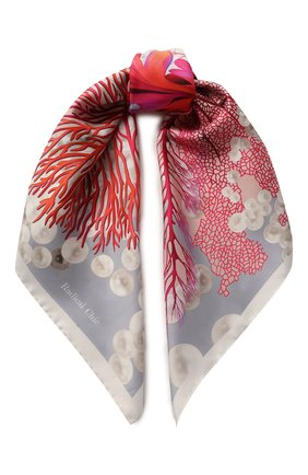 Шелковый платок Rosso | Фото №1