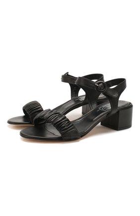 Женские кожаные босоножки AGL черного цвета, арт. D631088PCS0FTY0000 | Фото 1