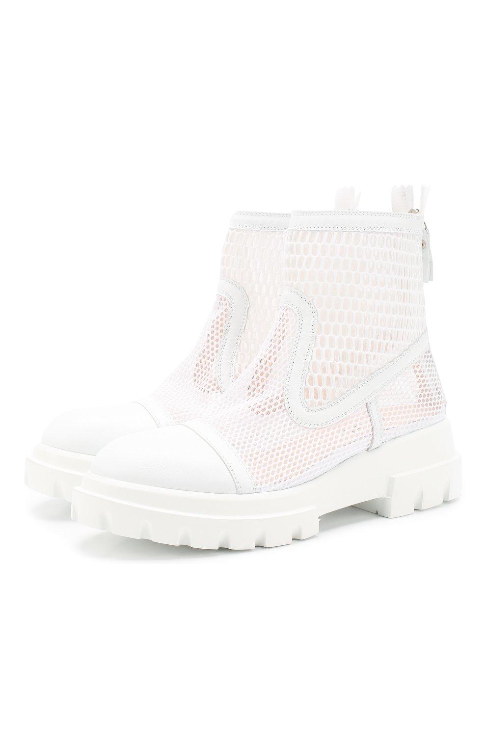 Женские комбинированные ботинки AGL белого цвета, арт. D756533PGK67442101   Фото 1
