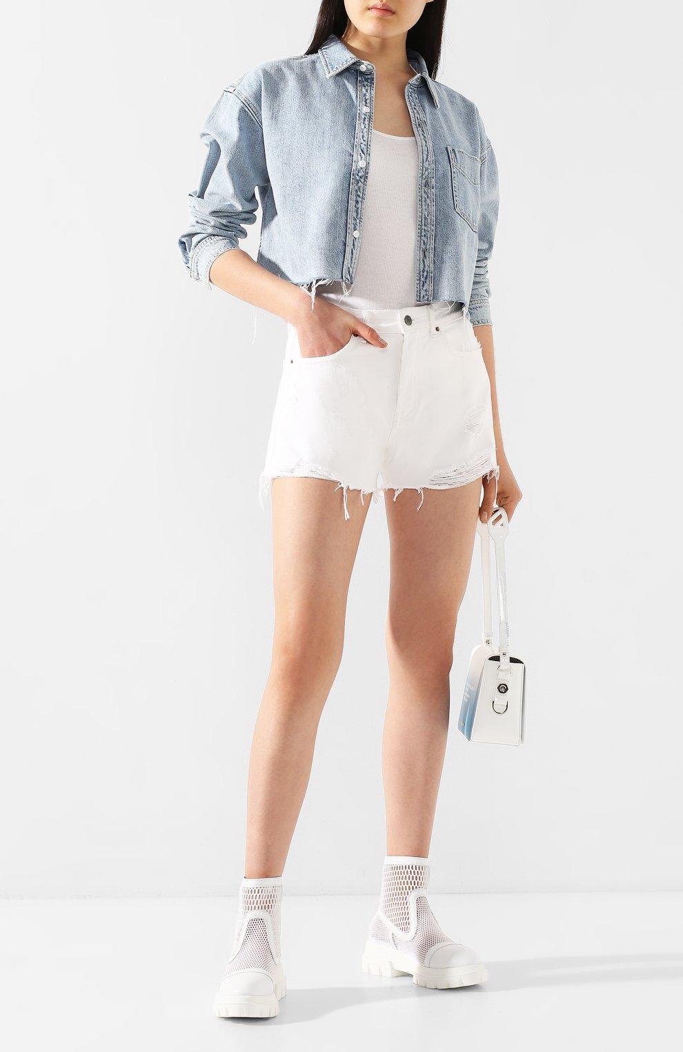 Женские комбинированные ботинки AGL белого цвета, арт. D756533PGK67442101   Фото 2