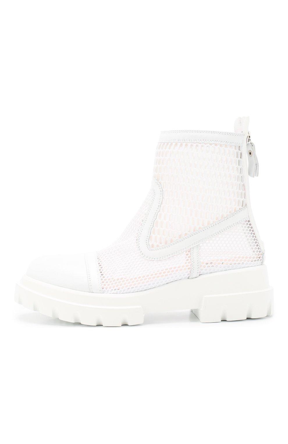 Женские комбинированные ботинки AGL белого цвета, арт. D756533PGK67442101   Фото 3