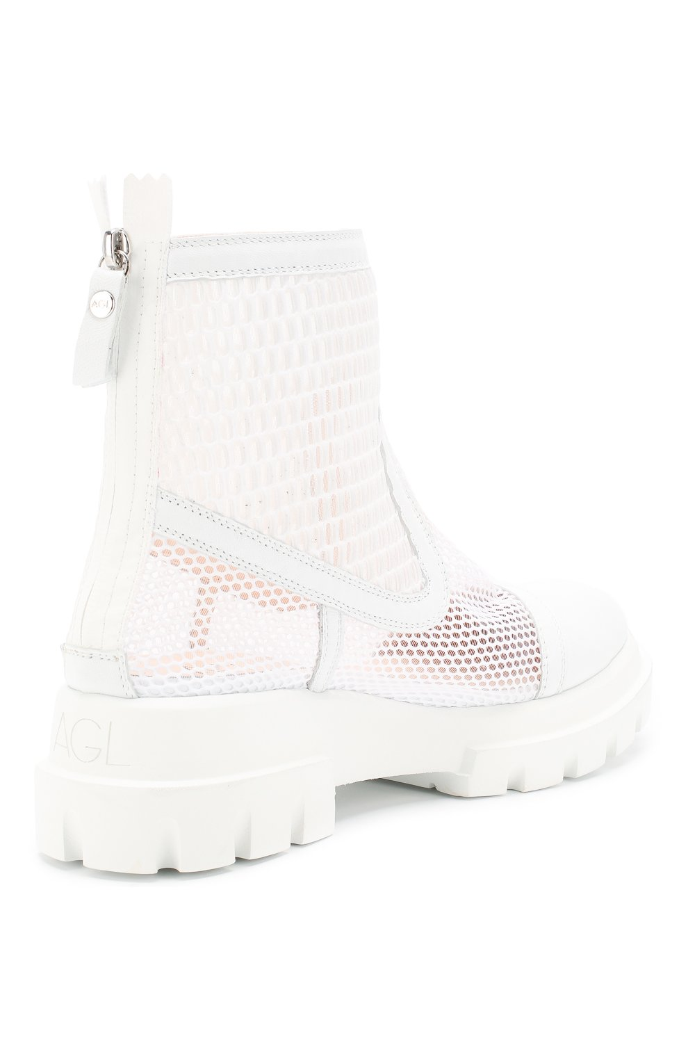 Женские комбинированные ботинки AGL белого цвета, арт. D756533PGK67442101   Фото 4