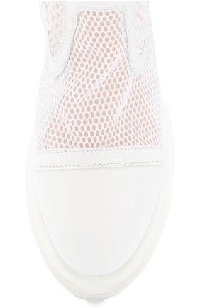 Женские комбинированные ботинки AGL белого цвета, арт. D756533PGK67442101   Фото 5
