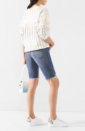 Женские кожаные кеды AGL белого цвета, арт. D925231PGKP015B775 | Фото 2
