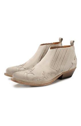 Женские замшевые ботинки santiago GOLDEN GOOSE DELUXE BRAND серого цвета, арт. G36WS499.A3 | Фото 1