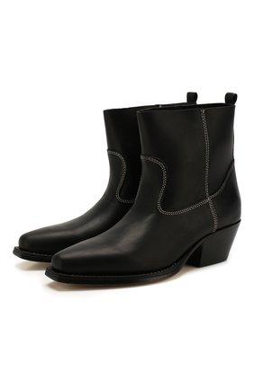 Женские кожаные ботинки VIC MATIE черного цвета, арт. 1X8450D.X16X070101 | Фото 1