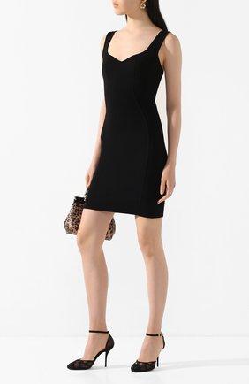 Женская текстильные туфли vally DOLCE & GABBANA черного цвета, арт. CD1537/AX975 | Фото 2