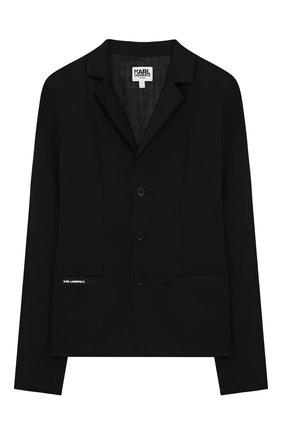 Детский пиджак KARL LAGERFELD KIDS черного цвета, арт. Z26062 | Фото 1
