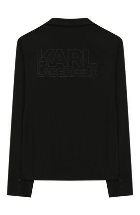 Детский пиджак KARL LAGERFELD KIDS черного цвета, арт. Z26062 | Фото 2