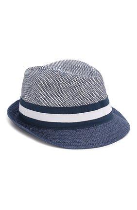 Детская соломенная шляпа CATYA синего цвета, арт. 014010 | Фото 1 (Материал: Растительное волокно)
