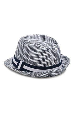 Детская соломенная шляпа CATYA синего цвета, арт. 014011 | Фото 2 (Материал: Растительное волокно)