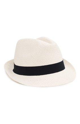 Детская соломенная шляпа CATYA белого цвета, арт. 014013 | Фото 1