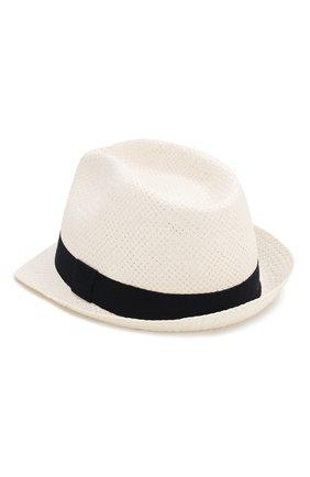Детская соломенная шляпа CATYA белого цвета, арт. 014013 | Фото 2