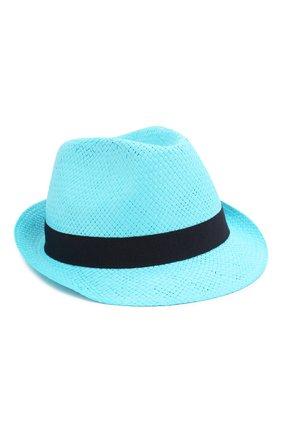 Детская соломенная шляпа CATYA голубого цвета, арт. 014013 | Фото 1