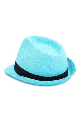 Детская соломенная шляпа CATYA голубого цвета, арт. 014013 | Фото 2