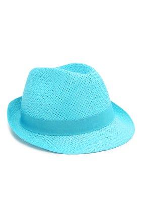 Детская соломенная шляпа CATYA голубого цвета, арт. 014014 | Фото 1