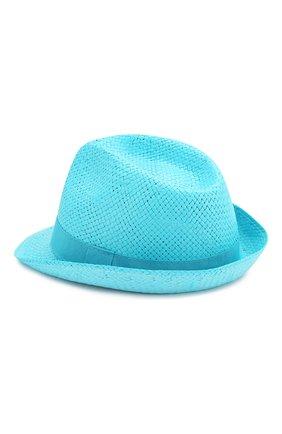 Детская соломенная шляпа CATYA голубого цвета, арт. 014014 | Фото 2