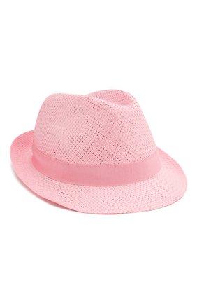 Детская соломенная шляпа CATYA сиреневого цвета, арт. 014014 | Фото 1