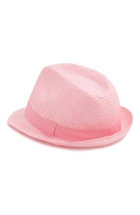 Детская соломенная шляпа CATYA сиреневого цвета, арт. 014014 | Фото 2