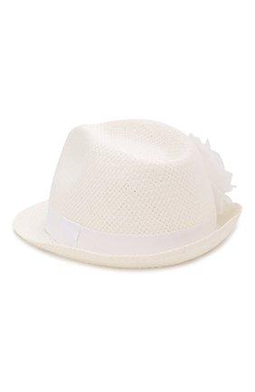 Детская соломенная шляпа CATYA белого цвета, арт. 014015 | Фото 2