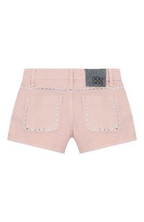 Детские джинсовые шорты DOUUOD розового цвета, арт. 20E/U/JR/PC03/1048/4A-8A | Фото 2