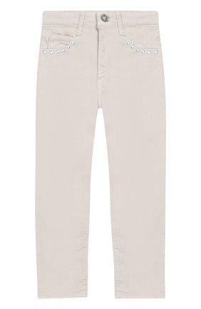 Детские джинсы DOUUOD бежевого цвета, арт. 20E/U/JR/PA01/1048/4A-8A   Фото 1