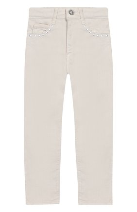 Детские джинсы DOUUOD бежевого цвета, арт. 20E/U/JR/PA01/1048/10A-14A   Фото 1