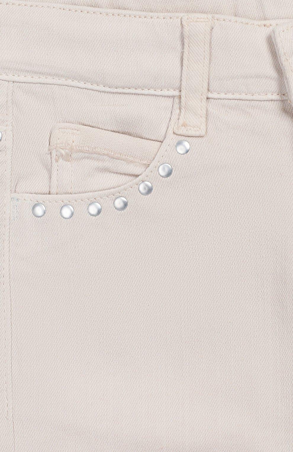 Детские джинсы DOUUOD бежевого цвета, арт. 20E/U/JR/PA01/1048/10A-14A   Фото 3