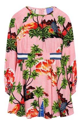 Детское платье STELLA JEAN KIDS розового цвета, арт. 20E/J/JF/AB08/2714/4A-6A   Фото 1