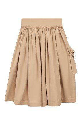 Детская хлопковая юбка UNLABEL бежевого цвета, арт. MAGN0LIA-1/12-IN002/8A-10A | Фото 1