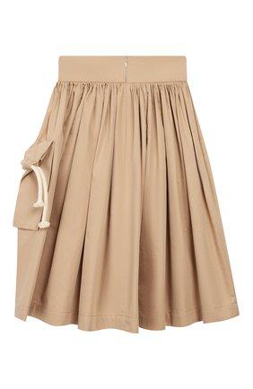 Детская хлопковая юбка UNLABEL бежевого цвета, арт. MAGN0LIA-1/12-IN002/12A-16A | Фото 2