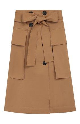 Детская хлопковая юбка UNLABEL бежевого цвета, арт. LIM0NIUM-2/24-IN005/8A-10A | Фото 1