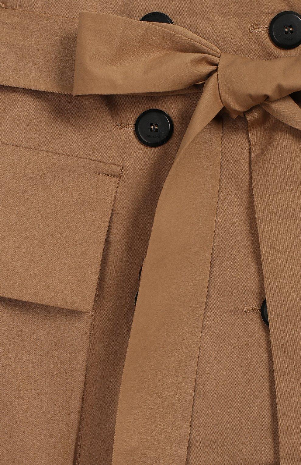 Детская хлопковая юбка UNLABEL бежевого цвета, арт. LIM0NIUM-2/24-IN005/8A-10A   Фото 3 (Случай: Повседневный; Материал внешний: Хлопок; Ростовка одежда: 10 - 11 лет   140 - 146см, 8 лет   128 см)