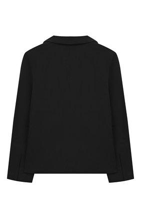 Детский хлопковый жакет UNLABEL черного цвета, арт. IVY-2/56-IN06/12A-16A | Фото 2
