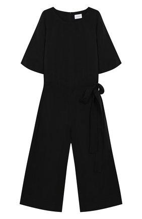Детский комбинезон UNLABEL черного цвета, арт. HYACINTHS/55-IN017/8A-10A | Фото 1