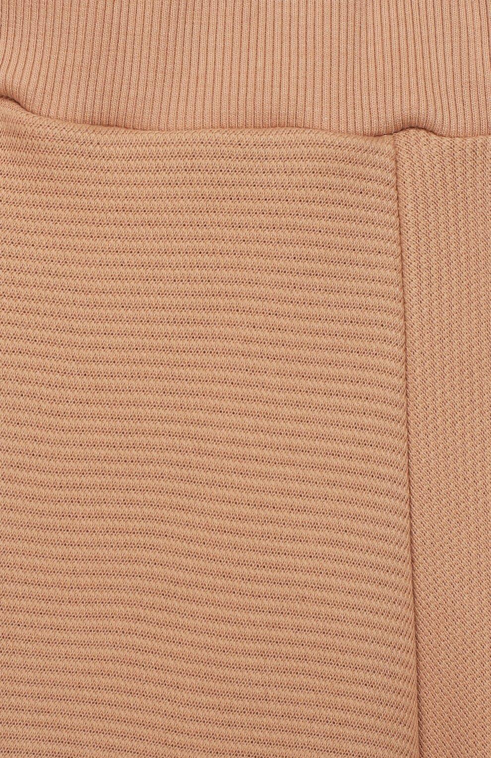 Детские хлопковые брюки UNLABEL бежевого цвета, арт. CANA-2/08-IN001-B/12A-16A | Фото 3 (Девочки Кросс-КТ: Брюки-одежда; Материал внешний: Хлопок; Ростовка одежда: 12 лет | 152 см, 13 - 15 лет | 158 см, 16 лет | 164 см)