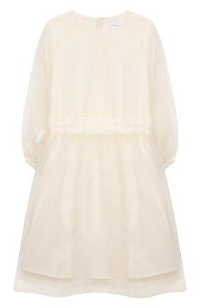 Детское шелковое платье UNLABEL белого цвета, арт. CAMELLIA-3/22-IN011-B/8A-10A | Фото 1