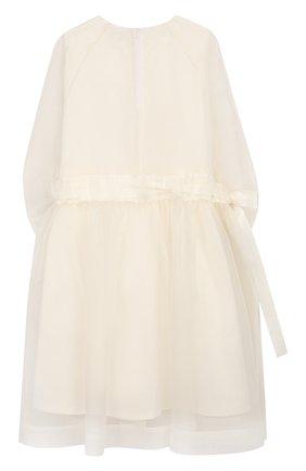 Детское шелковое платье UNLABEL белого цвета, арт. CAMELLIA-3/22-IN011-B/8A-10A | Фото 2