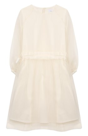 Детское шелковое платье UNLABEL белого цвета, арт. CAMELLIA-3/22-IN011-B/12A-16A | Фото 1