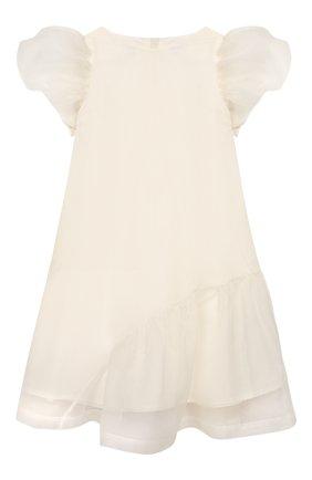 Детское шелковое платье UNLABEL белого цвета, арт. CALLA-2/52-IN016/8A-10A | Фото 1
